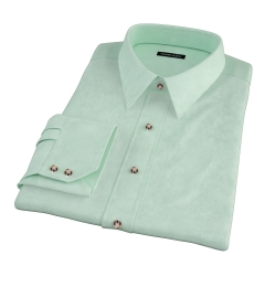 Green Heavy Oxford Fitted Shirt
