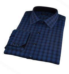 Vincent Navy and Ocean Blue Plaid Custom Made Shirt