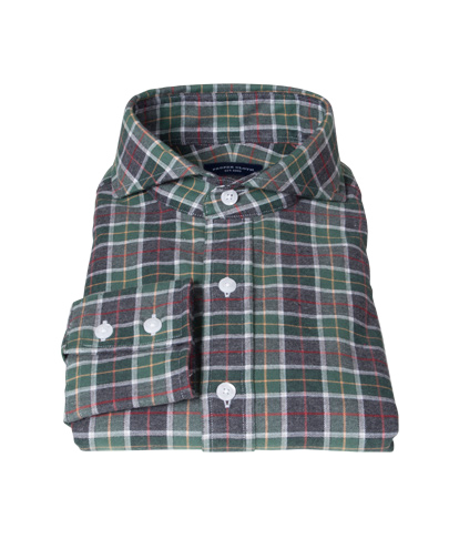Green Dock Street Flannel Dress Shirt