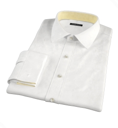 White 80s Broadcloth Tailor Made Shirt