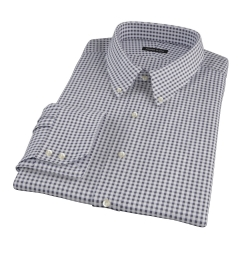 Medium Black Gingham Men's Dress Shirt