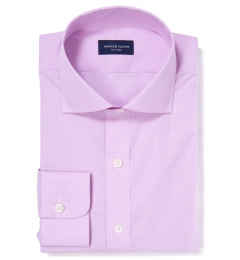 Thomas Mason Pink Mini Houndstooth Custom Made Shirt