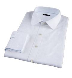 Canclini Light Blue Fine Stripe Fitted Dress Shirt