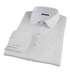 140s Light Blue Fine Stripe Fitted Shirt