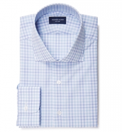 Adams Blue Multi Check Dress Shirt