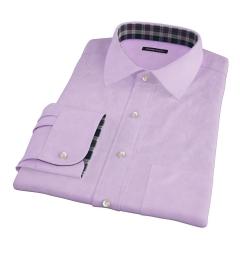 Morris Lavender Wrinkle-Resistant Houndstooth Custom Dress Shirt