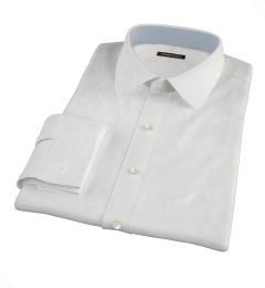 White Cavalry Twill Herringbone Custom Dress Shirt