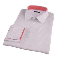Thomas Mason Pink Mini Grid Custom Made Shirt