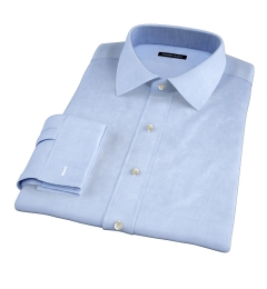 Thomas Mason Light Blue Wrinkle-Resistant Twill Dress Shirt