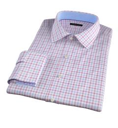 Thomas Mason Crimson Multi Check Tailor Made Shirt
