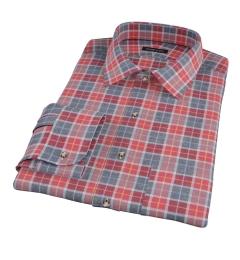 Rust Dock Street Flannel Fitted Dress Shirt