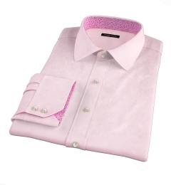 Canclini Pink End on End Men's Dress Shirt