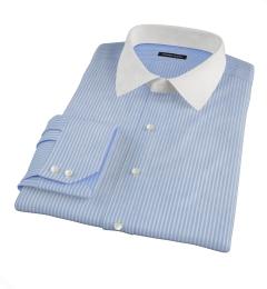 Carmine Blue Reverse Bengal Stripe Custom Made Shirt