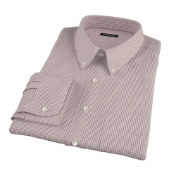 Canclini Brown Mini Gingham Fitted Shirt