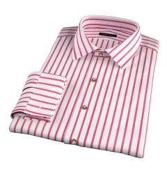 Canclini Red Wide Stripe Dress Shirt