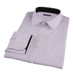Rye Lavender Grid Fitted Dress Shirt