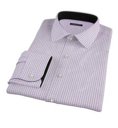 Rye Lavender Grid Fitted Dress Shirt