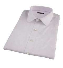 Bowery Lavender Wrinkle-Resistant Pinpoint Short Sleeve Shirt