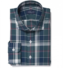 Wythe Green and Navy Plaid Custom Made Shirt