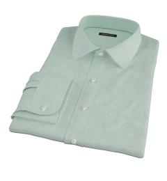 Light Green Heavy Oxford Cloth Custom Dress Shirt