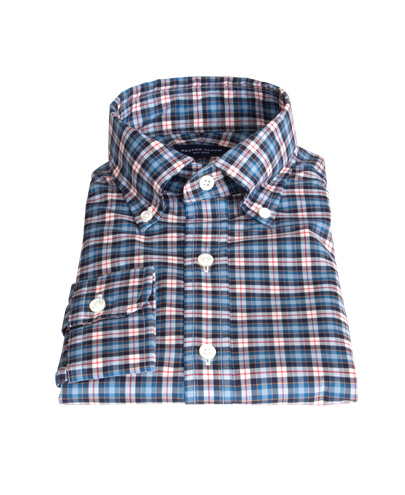 Vincent blue red and white plaid shirts by proper cloth for Red white and blue plaid shirt
