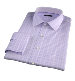 Thomas Mason Goldline Lavender Glen Plaid Tailor Made Shirt