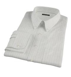 Light Blue Satin Stripe Men's Dress Shirt