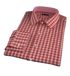 Terra Cotta 120s Check Men's Dress Shirt