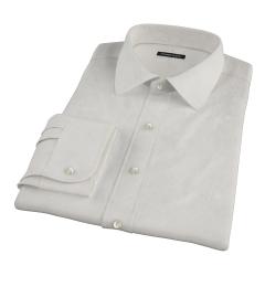 100s Khaki Stripe Dress Shirt
