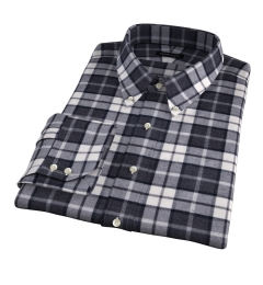 Canclini Grey Plaid Beacon Flannel Custom Dress Shirt