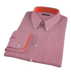 Red Heavy Oxford Cloth Custom Dress Shirt