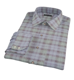 Satoyama Faded Blackwatch Plaid Fitted Dress Shirt