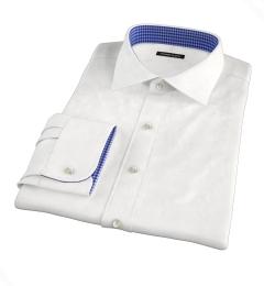 Grandi & Rubinelli White Linen Fitted Dress Shirt