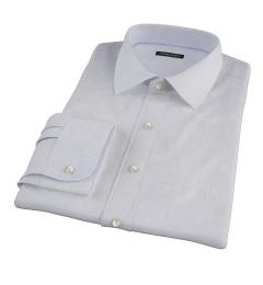 Albini Blue and Brown Mini Tattersall Custom Dress Shirt
