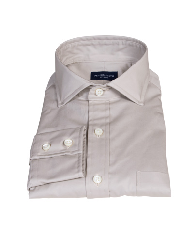 Khaki Chino Fitted Shirt