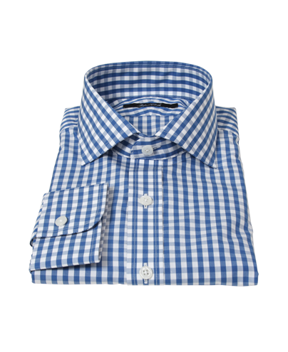Canvas Blue Gingham Men's Dress Shirt 