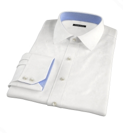 Miles White 120s Broadcloth Men's Dress Shirt