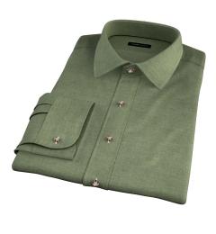 Canclini Sage Beacon Flannel Custom Dress Shirt