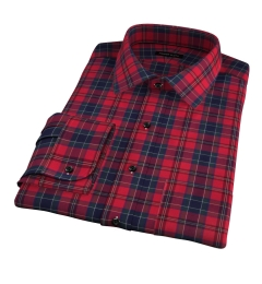 Wythe Red and Navy Plaid Fitted Shirt