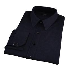 Black 80s Broadcloth Tailor Made Shirt
