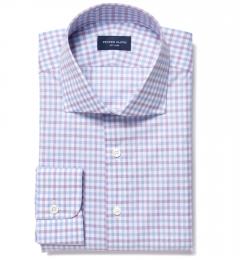 Thomas Mason Violet Multi Check Tailor Made Shirt