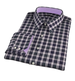 Japanese Green Donegal Tartan Men's Dress Shirt