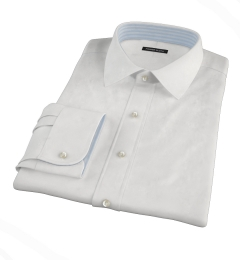 Thomas Mason White Twill Tailor Made Shirt