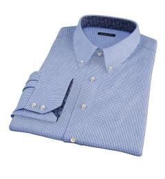 Greenwich Blue Mini Check Dress Shirt