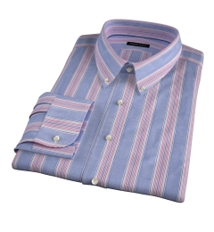 Albini Santa Fe Stripe Custom Dress Shirt