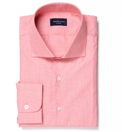 Genova 100s Coral End-on-End Fitted Shirt