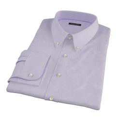 Lilac Heavy Oxford Cloth Men's Dress Shirt