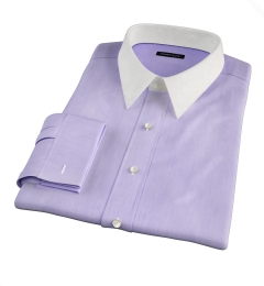 Genova 100s Lilac End-on-End Dress Shirt