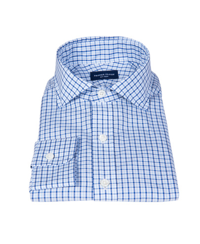 Canclini Blue Multi Gingham Fitted Shirt