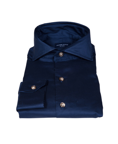 Navy 100s Twill Custom Made Shirt